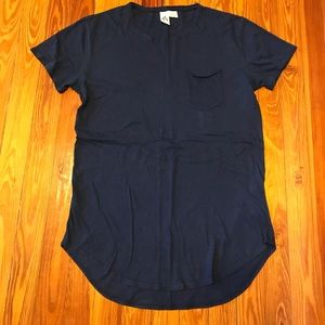 Urban Outfitters Scoop Navy Blue Shirt- Men's M